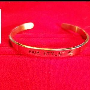 Jewelry - Hair Stylist Stainless Steel Bracelet
